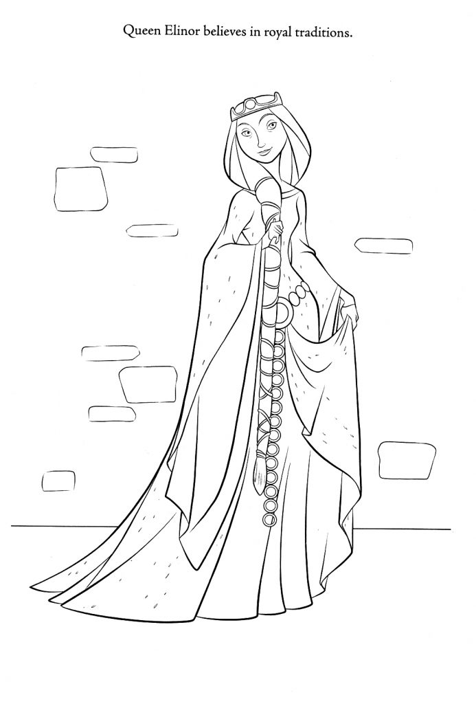 Brave Coloring Pages - Queen Elinor