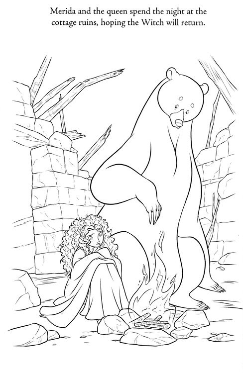 Brave Coloring Sheet