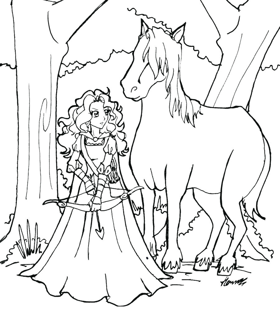 Download Brave Coloring Pages
