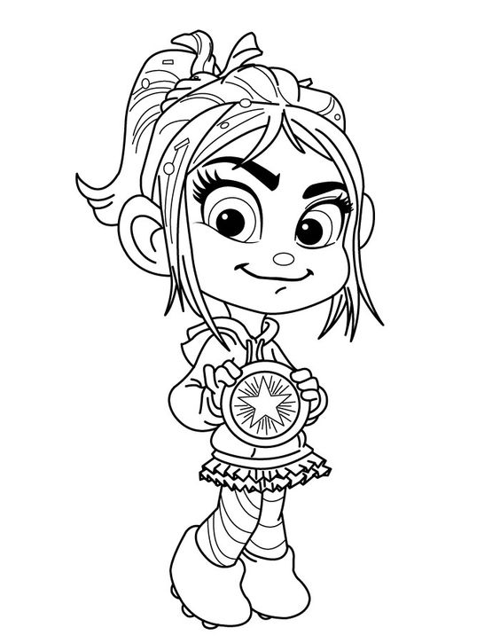 Wreck It Ralph Coloring Pages Best Coloring Pages For Kids Wreck It Ralph Vanellope Coloring Pages