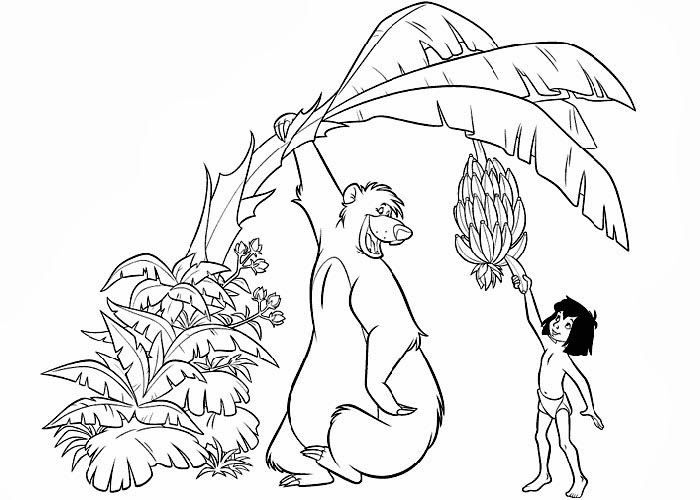 Free Printable Jungle Book Coloring Pages
