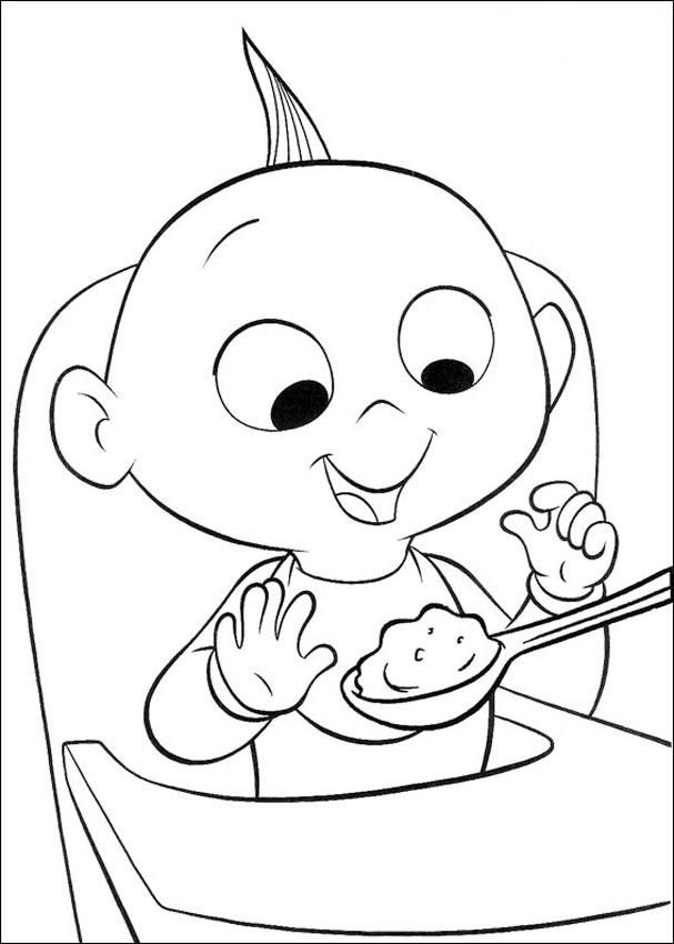 incredibles coloring pages jack jack - Jack Coloring Pages