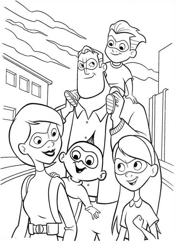 Incredibles Coloring Pages Best Coloring Pages For Kids Incridible Coloring Pages
