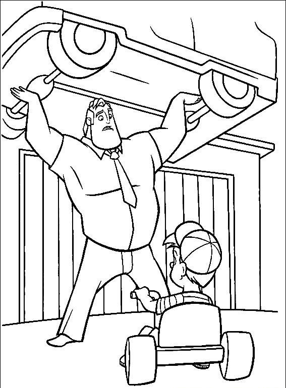 Incredibles Coloring Pages Best Coloring Pages For Kids Incredibles Coloring Page