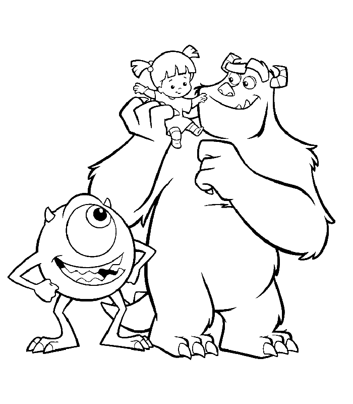monsters coloring pages for kids - photo#14