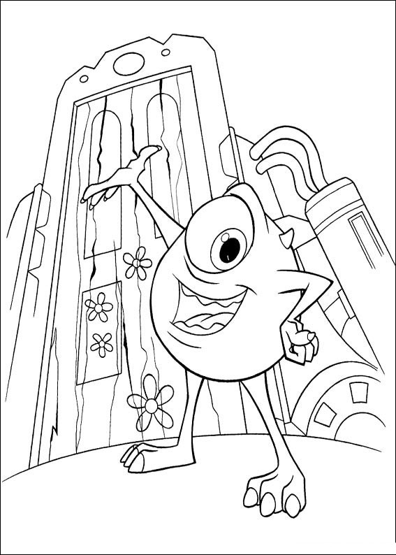 Monsters Inc Coloring Pages Best