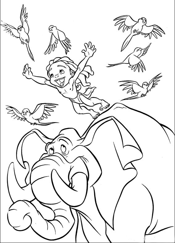 Tarzan Coloring Pages Best For Kids And Jane Young