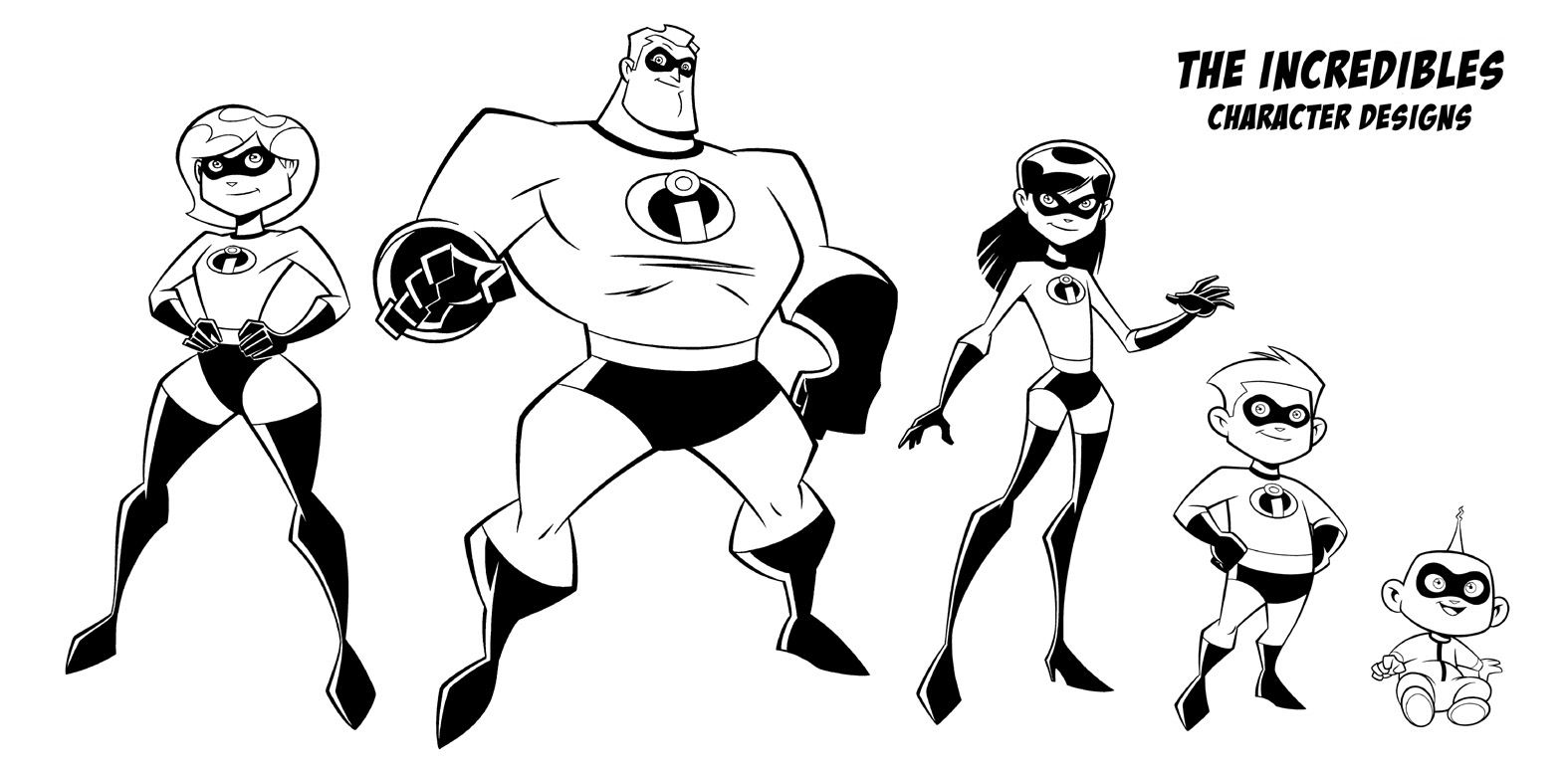 incredibles coloring pages - Incredibles Coloring Page