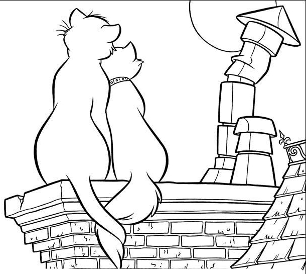 aristocats toulouse coloring pages - photo#37