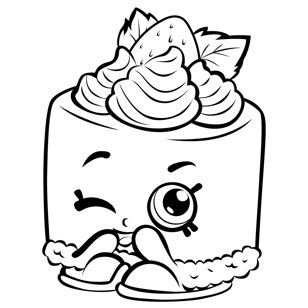 72 EASY SHOPKINS COLORING PAGES SPILLED MILK PRINTABLE PDF ... | 1024x1024