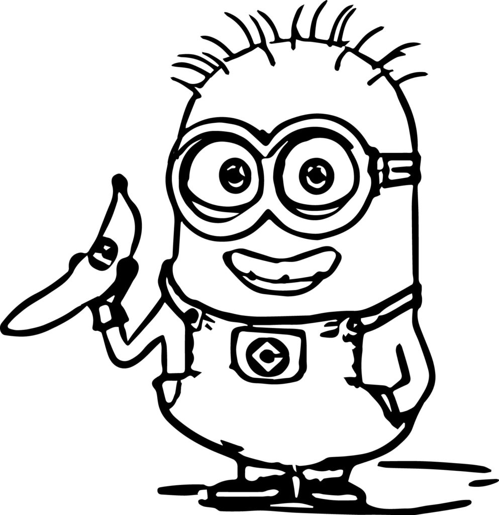 color minions - Minion Coloring Pages