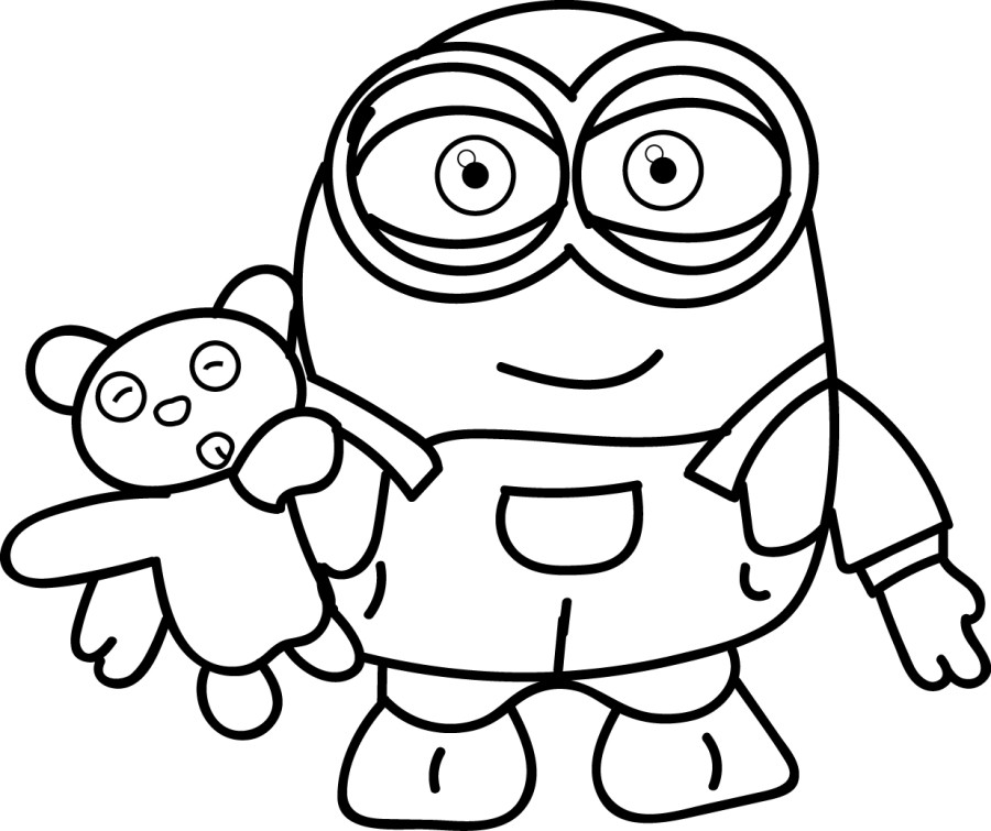 Geeky image throughout printable minion coloring page