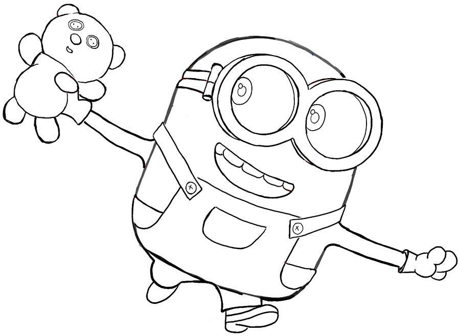 printable coloring pages of minions - photo#18