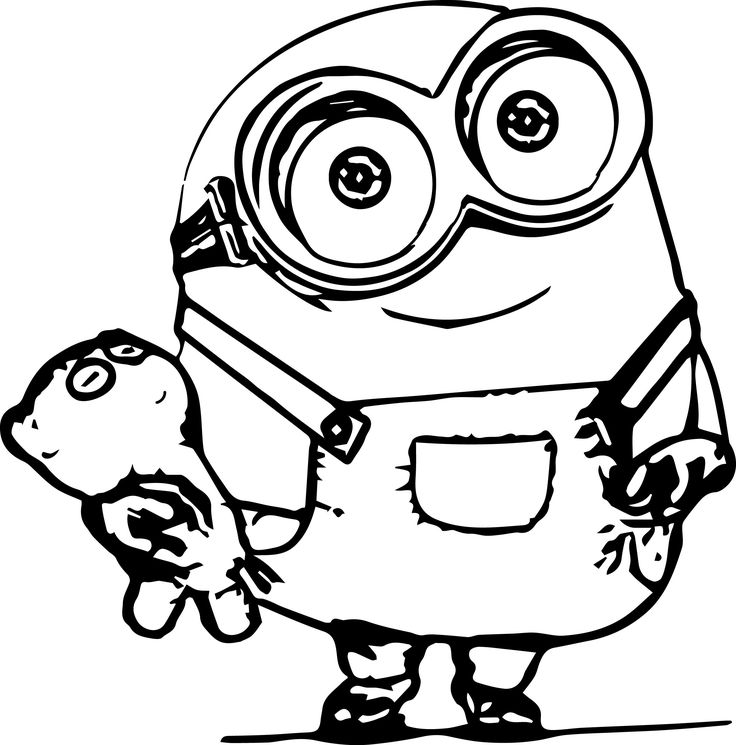 Current image with printable minion coloring page