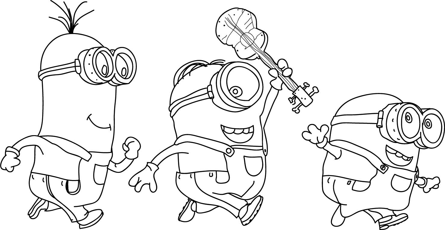 Fun coloring pages minions rocking ~ Minion Coloring Pages - Best Coloring Pages For Kids