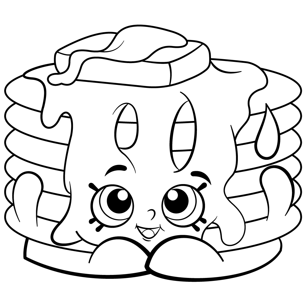 Free coloring in pages - Free Printable Shopkins Coloring Page