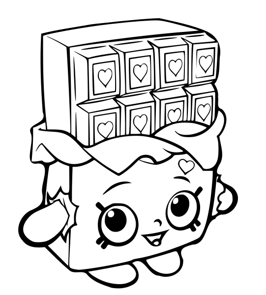 free shopkins coloring page