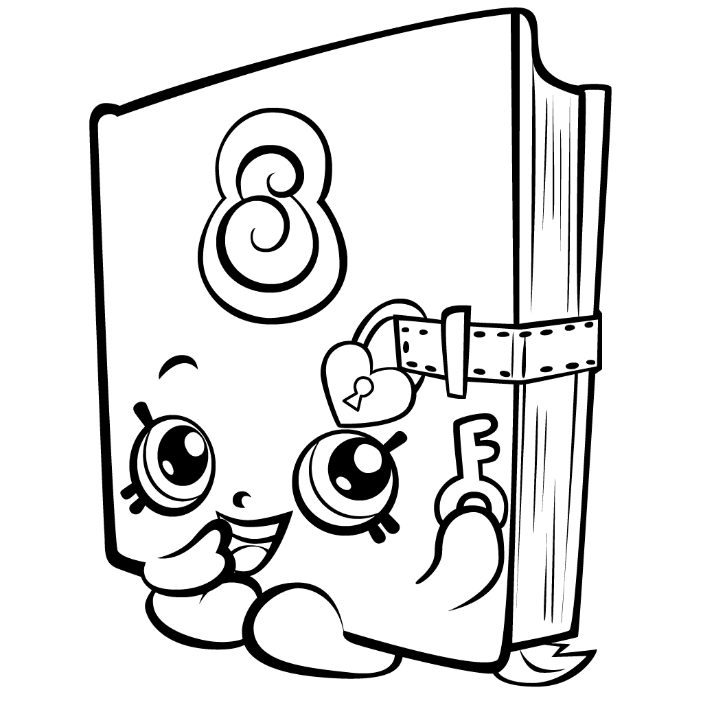 Coloring games of shopkins - Free Shopkins Coloring Pages Picture