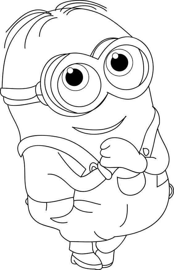 It is a picture of Peaceful Printable Minion Coloring Pages