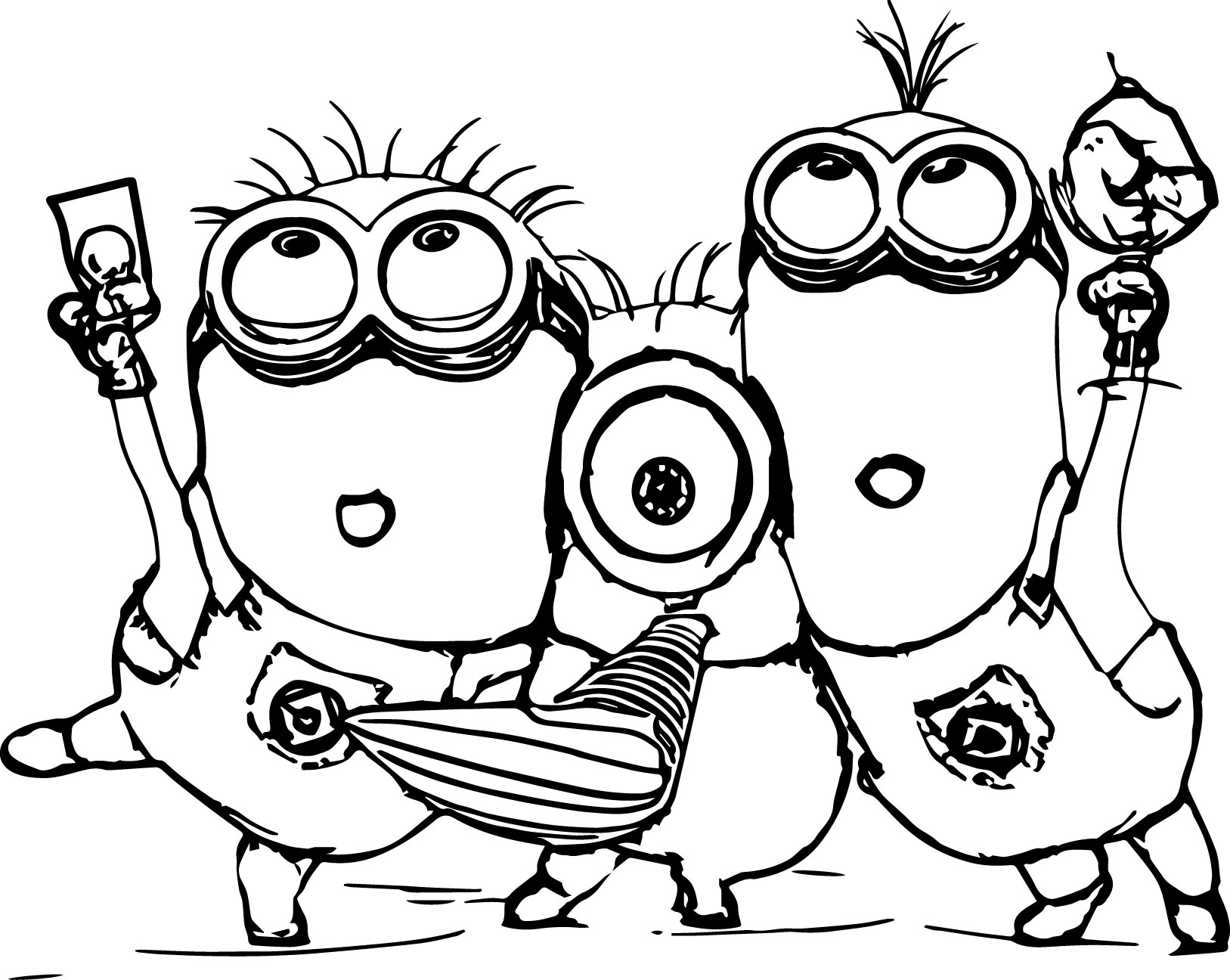 minions coloring pages banana split - photo#36