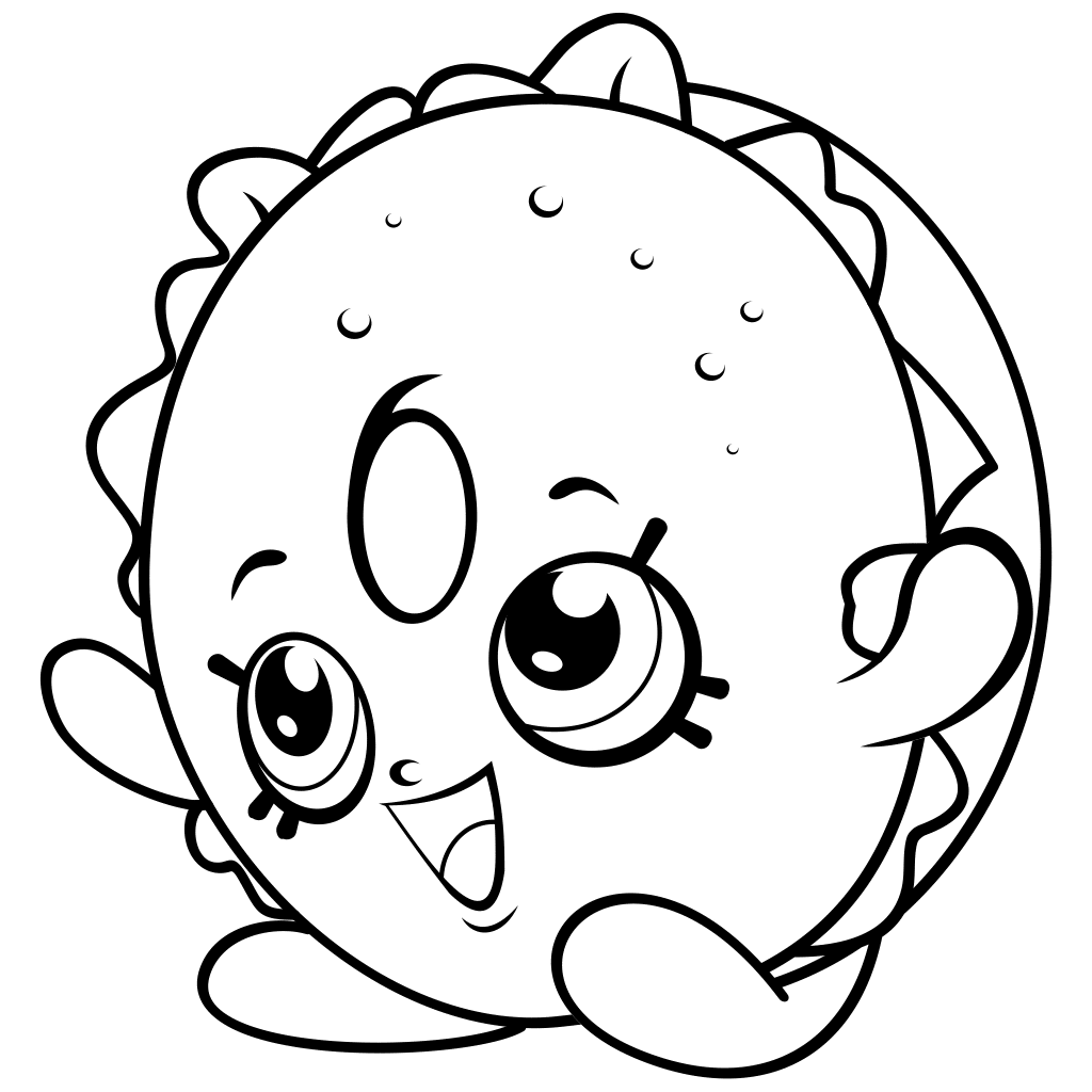 Printable Shopkins Coloring Page