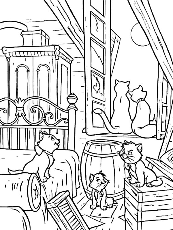 disney aristocats coloring pages print - photo#35