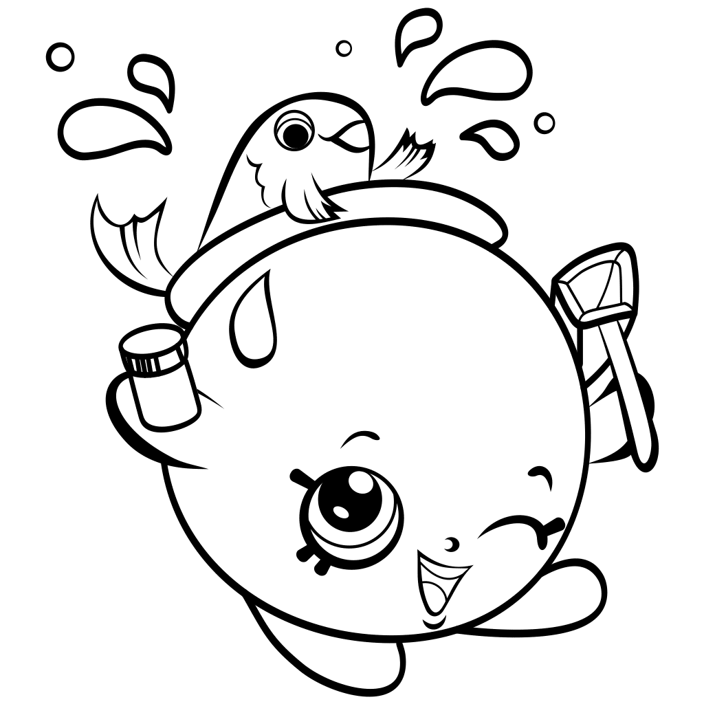 Shopkins Coloring Page Pictures