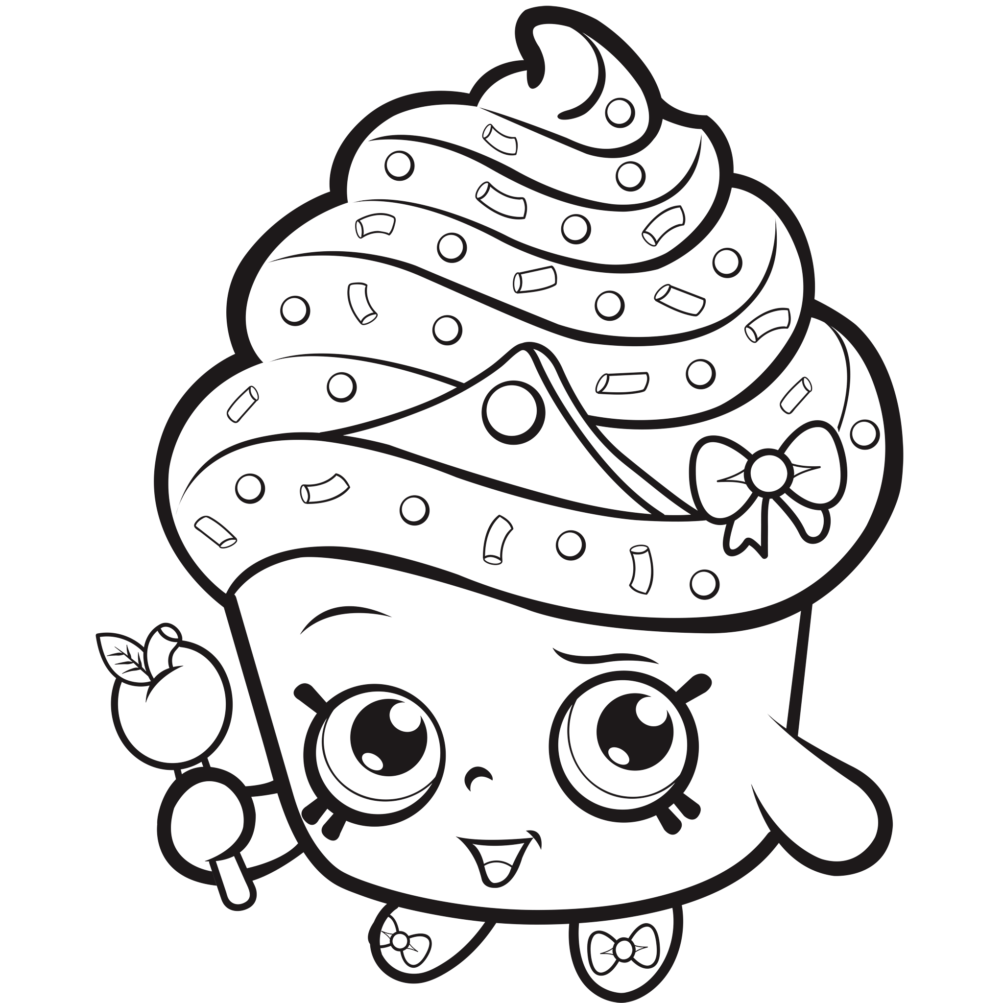 Shopkins For Kids Coloring Pages Printable Top Coloring Pages