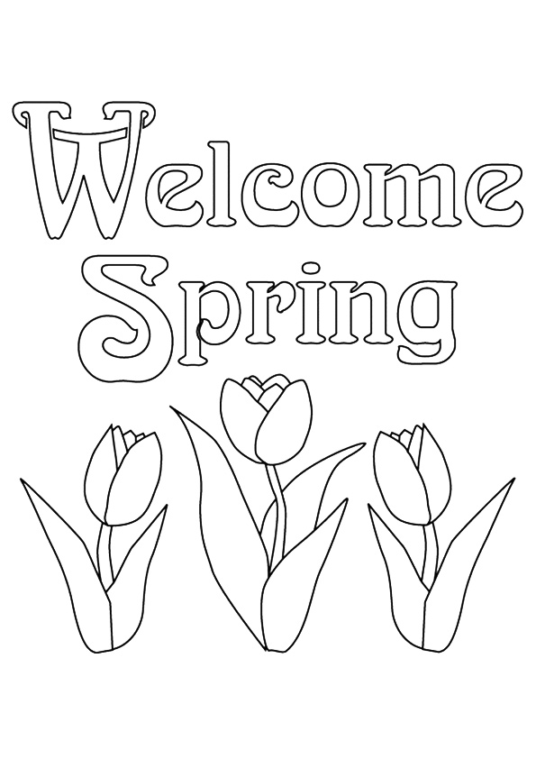 children coloring pages to print and color | Spring Coloring Pages - Best Coloring Pages For Kids