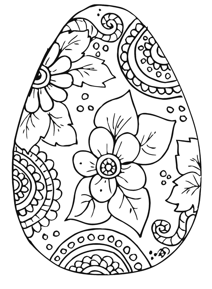 coloring pages easter eggs - photo#10