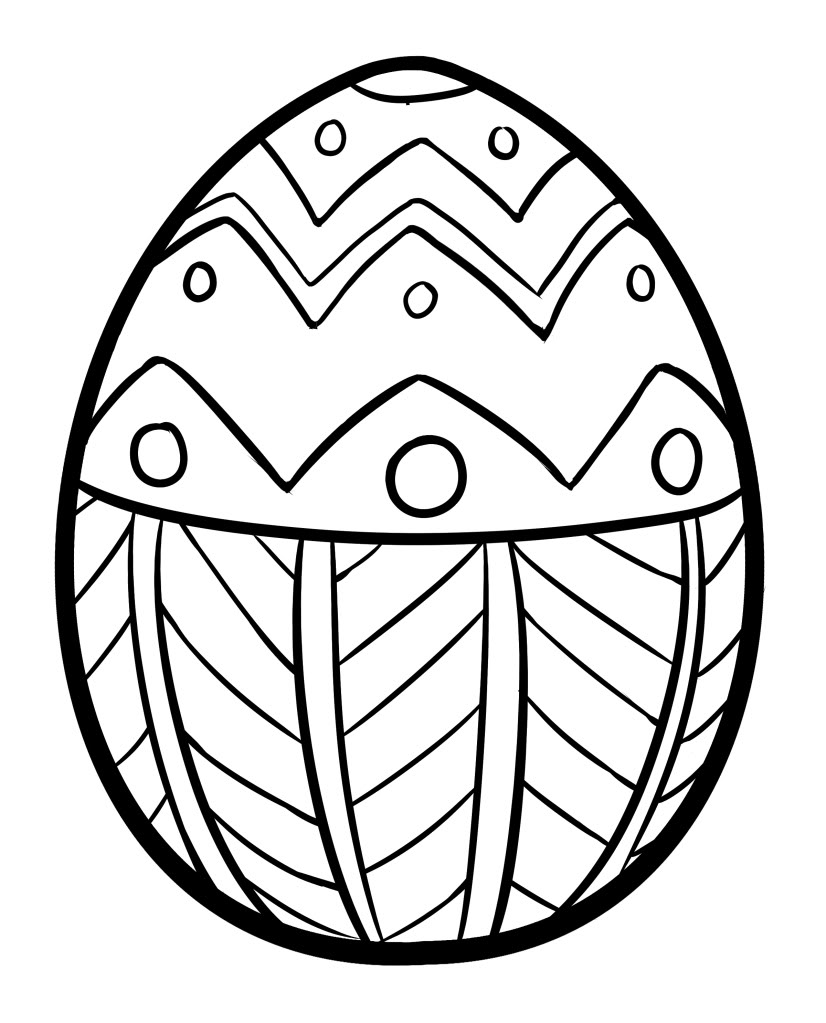 Easter eggs coloring pages - Coloring Easter Egg Easter Coloring Page
