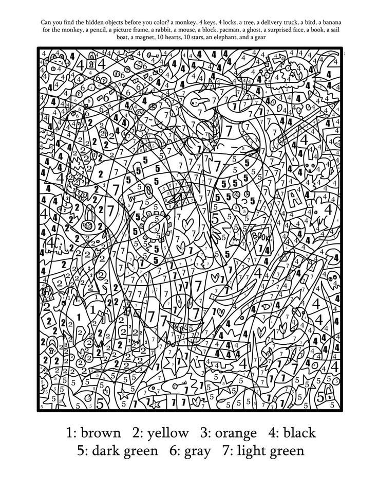 Complex Color By Number Printables Coloring Coloring Pages