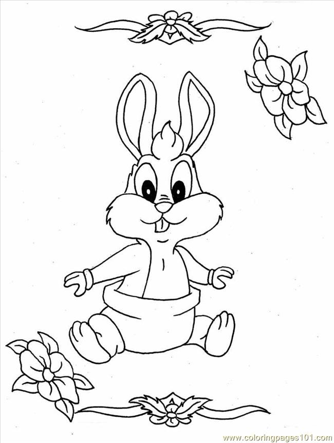 cute coloring pages of bunnies - photo#29