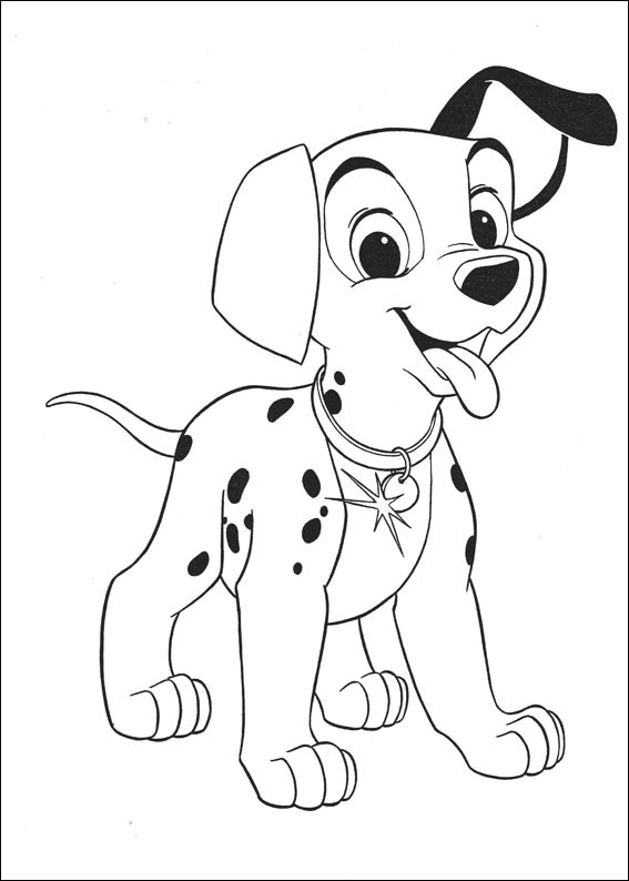 Dalmation Puppy Coloring Page