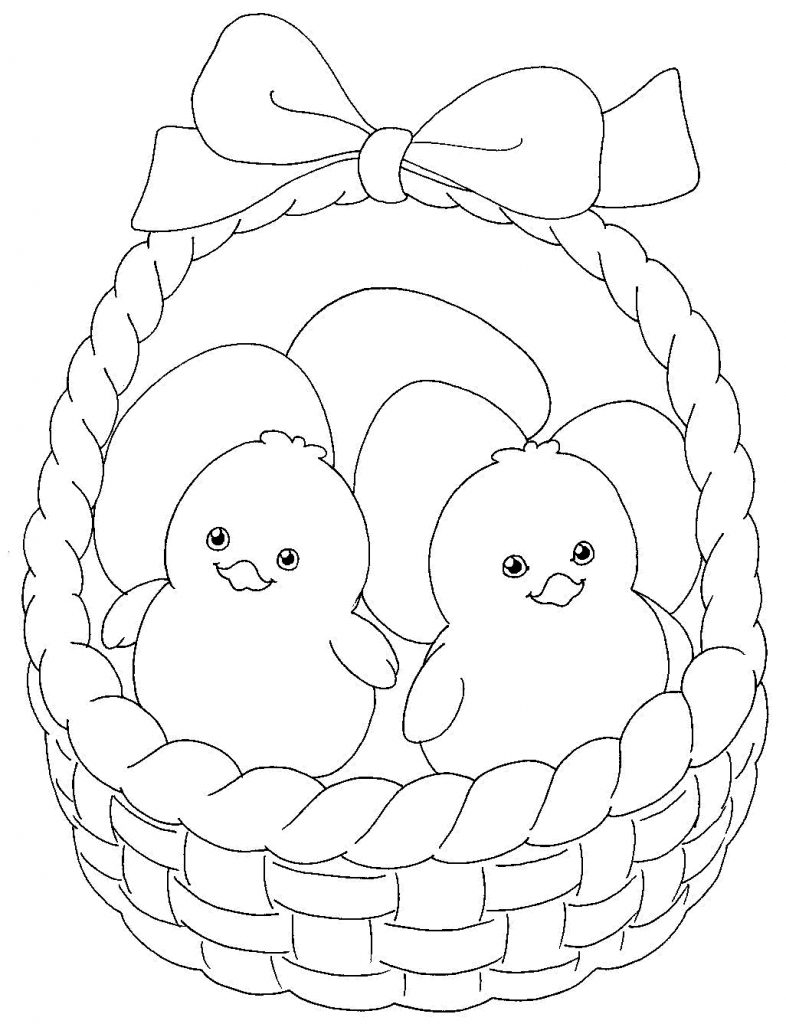 Coloring Pages To Print Easter : Easter basket coloring pages best for kids