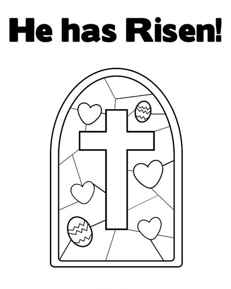 easter coloring page he has risen