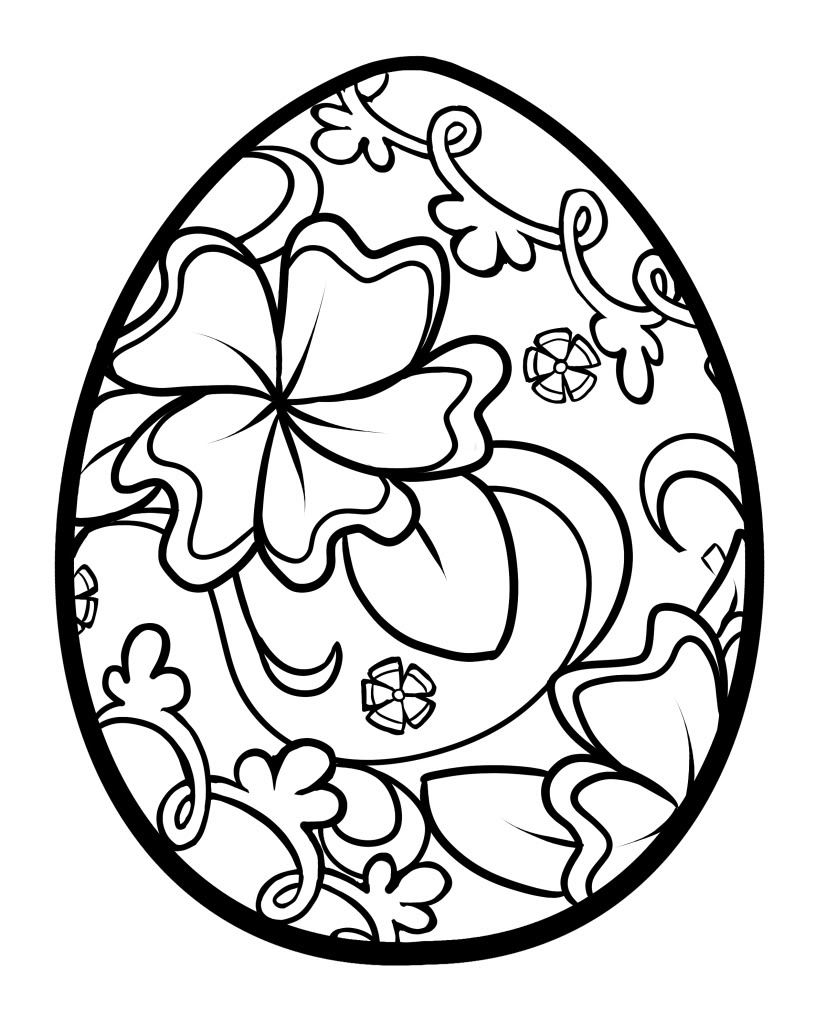 Easter egg coloring pages - Flourish Easter Egg Easter Coloring Pages