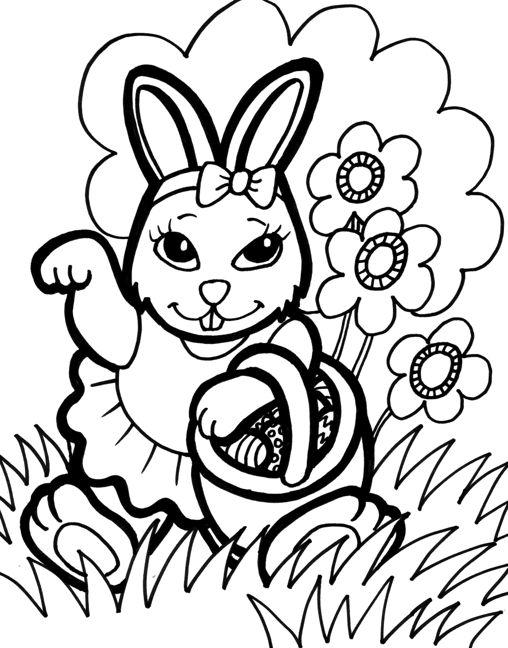 Rabbit coloring pages online - Free Bunny Coloring Pages Printable
