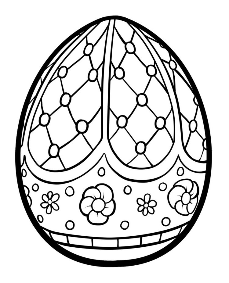 Free Easter Egg Coloring Page