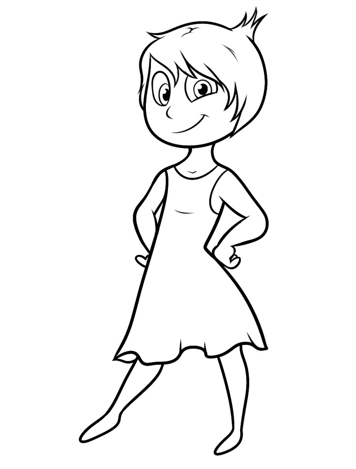 Free Joy Inside Out Coloring Page
