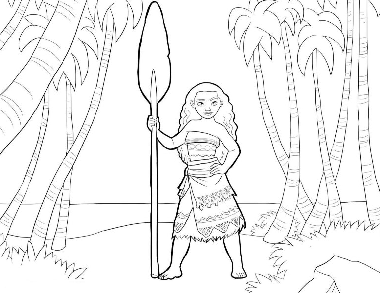 Free Colouring Pages Moana : Moana coloring pages best for kids