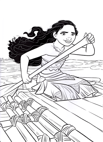 Free Printable Moana Coloring Page