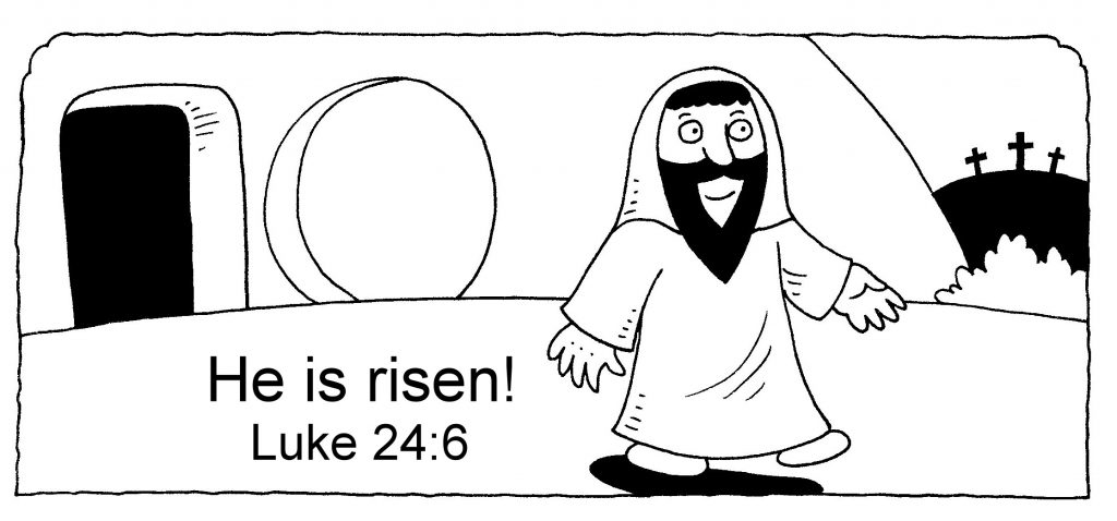 He is Risen - Easter Coloring Page