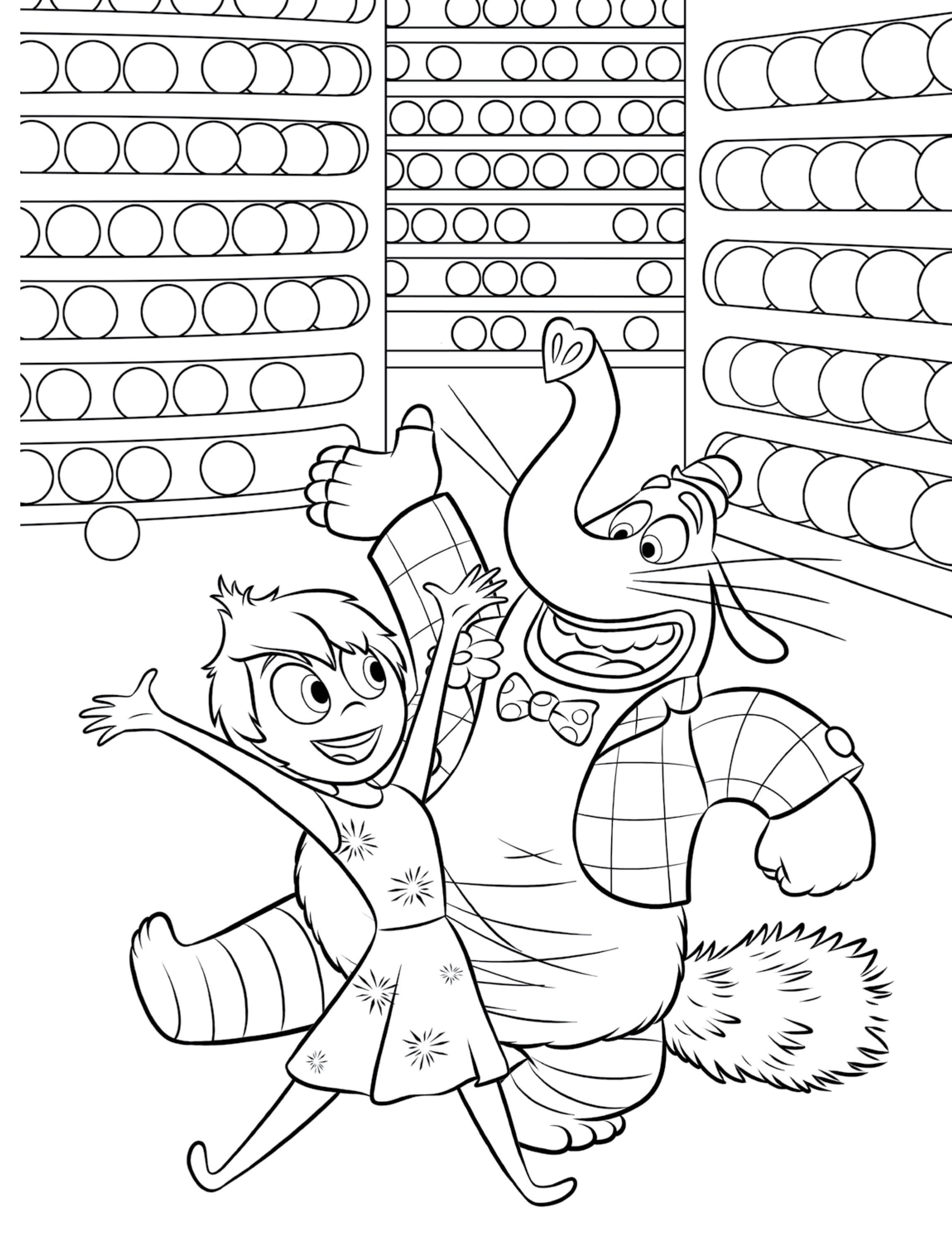 Inside out coloring pages riley - Inside Out Coloring Page
