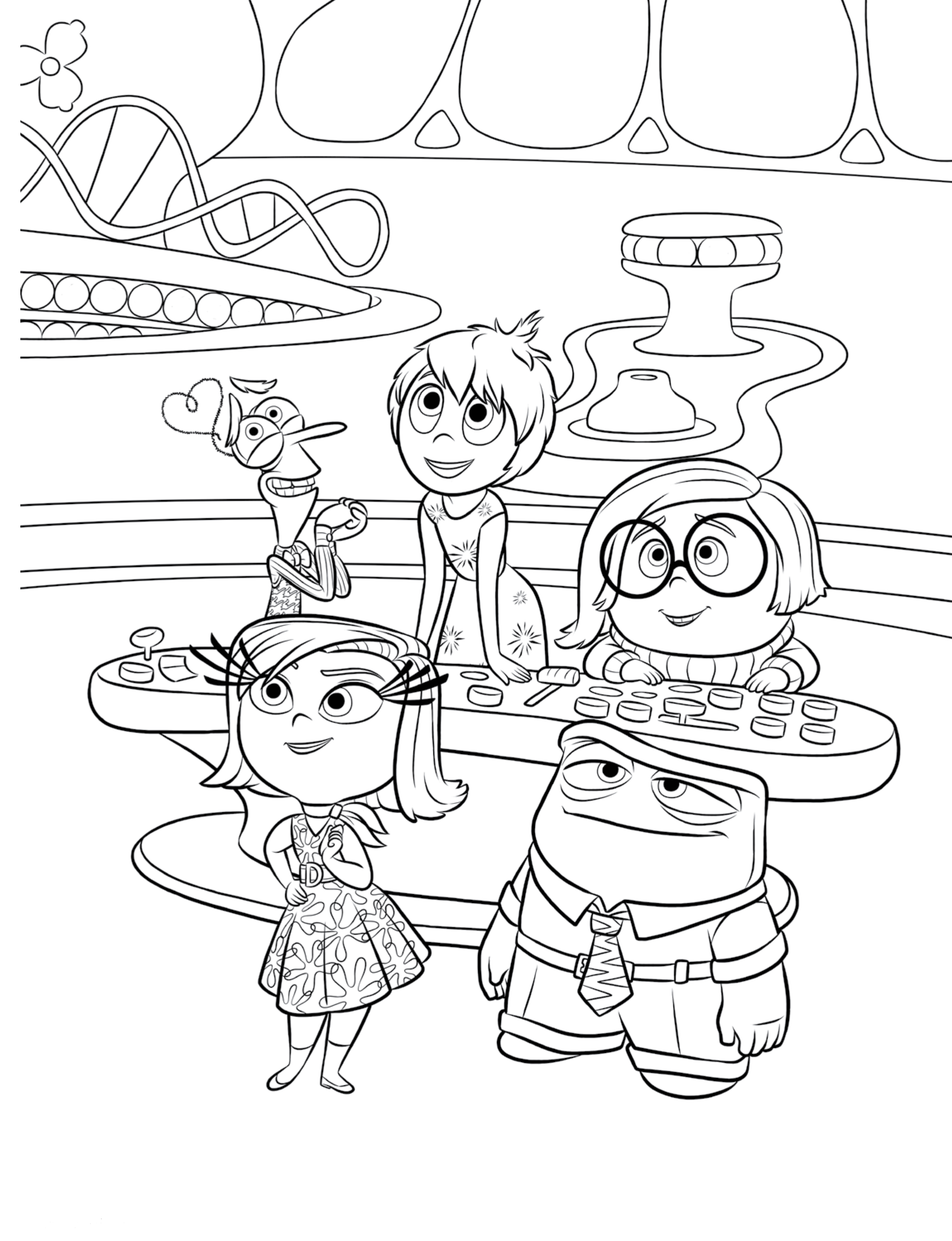 Inside out coloring pages best coloring pages for kids for Best coloring pages for kids