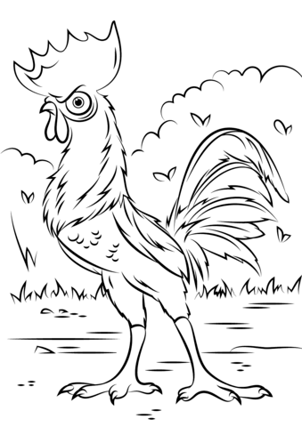 Moana Coloring Pages - Hei Hei