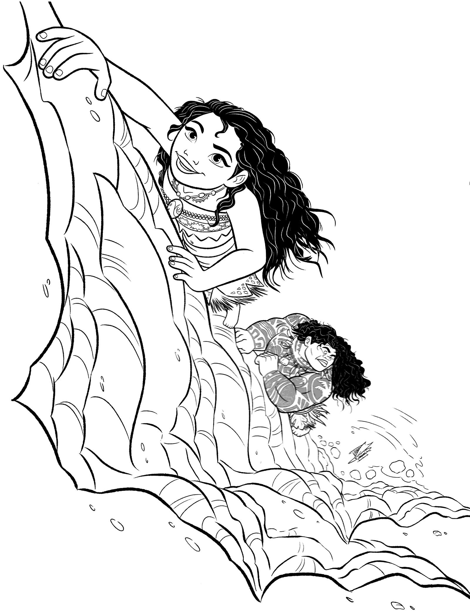 Coloring pages of moana