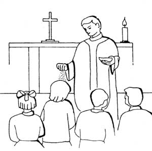 Print Ash Wednesday Coloring Pages