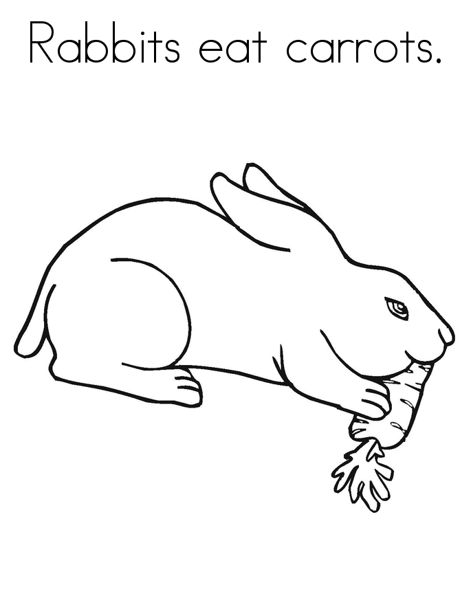 Print Bunny Coloring Pages