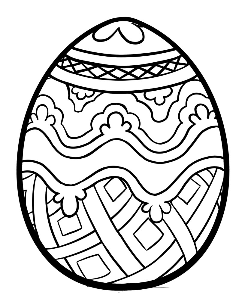 Easter eggs coloring pages - Printable Easter Egg Coloring Page